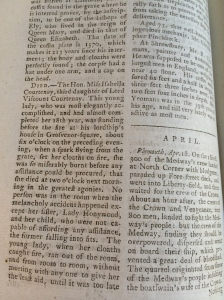 The story in a 1783 annual register