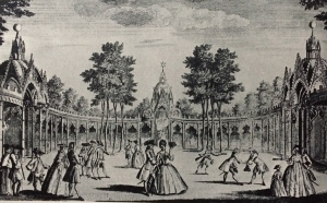 A masquerade at Vauxhall Gardens