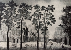 One of the pavilions at Vauxhall Gardens