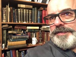 Tony McMahon and his library